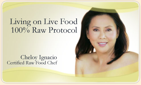 Cheloy Ignacio Certified Raw Food Chef